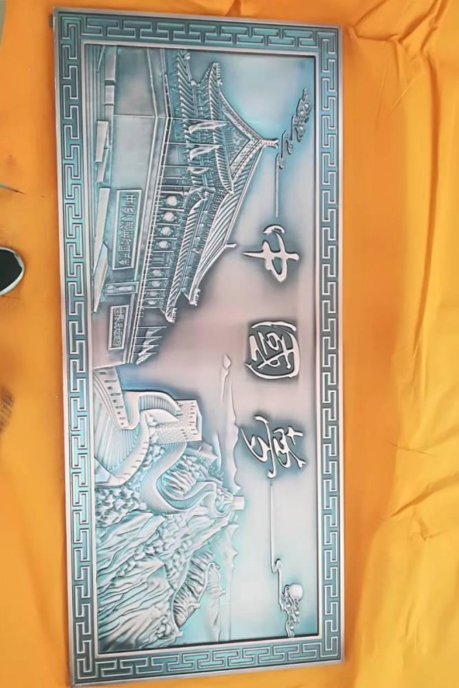 福州铝板雕刻图片定做壁画装饰壁画装饰豪华别墅真实别墅图片