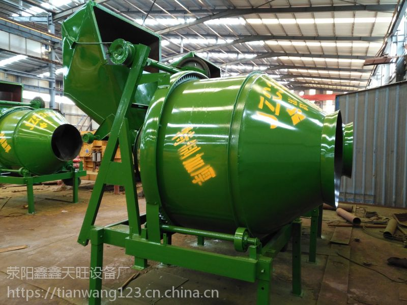河南汝州鑫旺350型翻斗离合式上料滚筒搅拌机实用经济