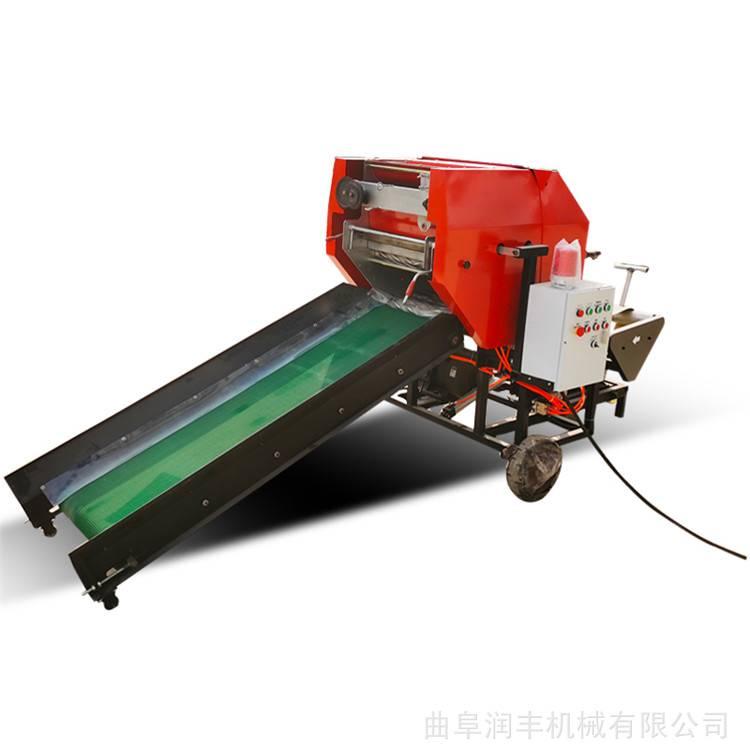 牧草保鲜打捆机 润丰 自动开仓打捆包膜机