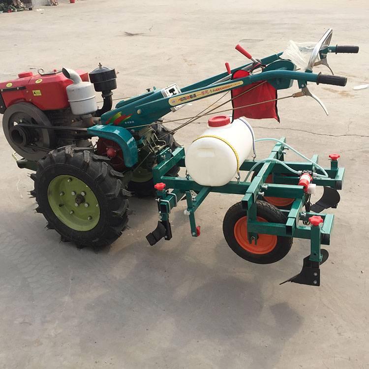 农用土豆喷药覆膜机 四轮带动花生播种覆膜机 手扶带动播种机