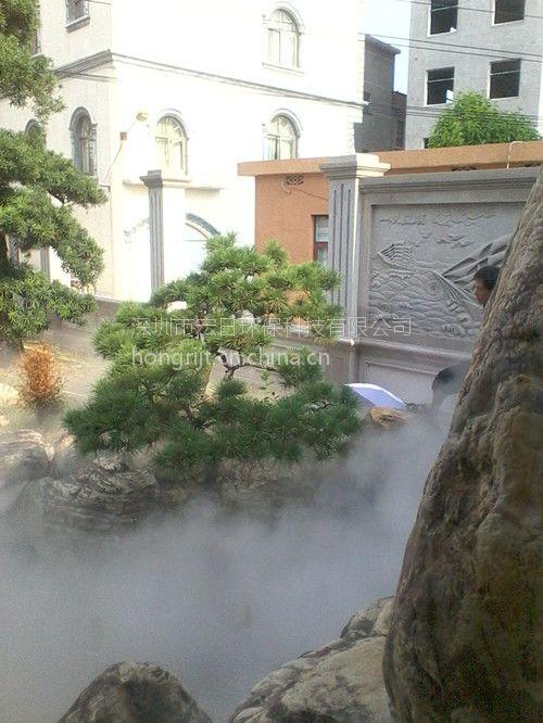西湖广东别墅区水景喷泉人造雾|雾之源喷雾喷雁附近别墅深圳图片