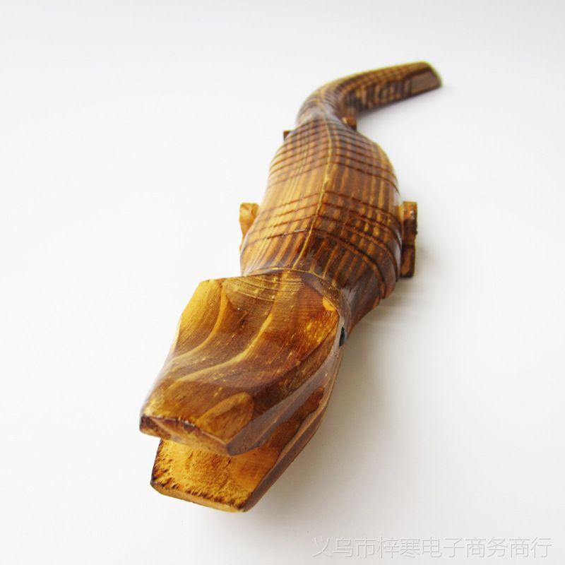 【【旅游工艺品批发】40cm木头鳄鱼/木质儿童玩具/动物摆件工艺品】图片