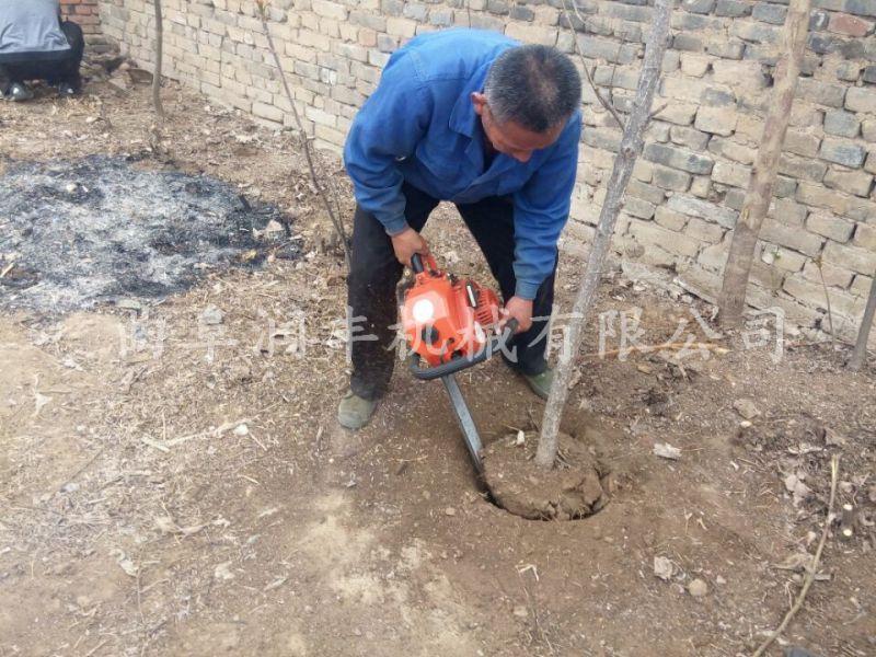 自动小型挖树机 小型手提式链锯式树木起挖机