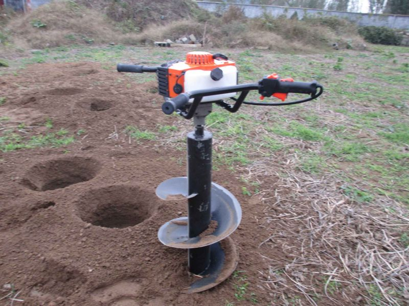苗圃汽油挖坑机 两冲程挖坑机图片 富民牌