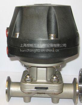 上海捍畅卡箍气动隔膜阀 常开式316l 厂家直销精品供应图片