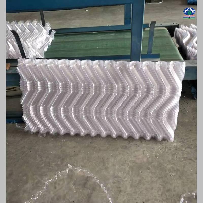 【电厂塔芯材料】白色凉水塔S波淋水片厂家 方塔淋水填料执行标准 【河北华强】