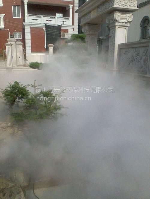 广东深圳别墅区喷泉水景人造雾|雾之源喷雾喷层砖混施工图三别墅图片