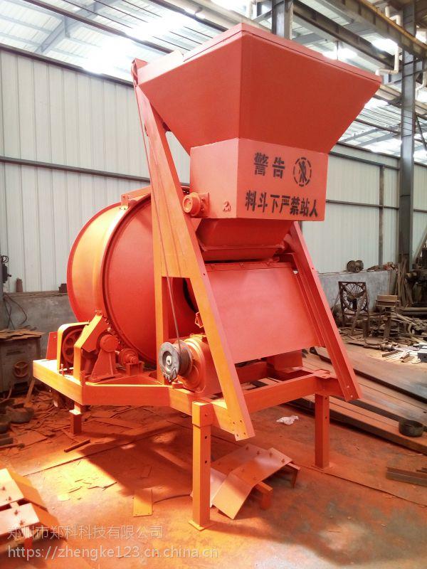 浙江台州郑科JZC350型双轴自动上料建筑搅拌机