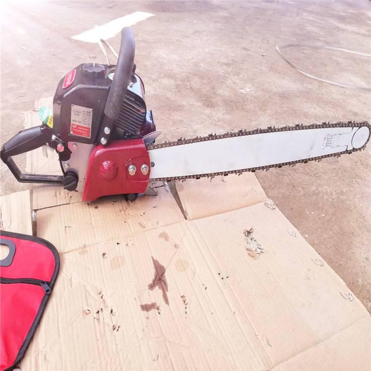 园林树木汽油挖树机 手持式链条挖树机
