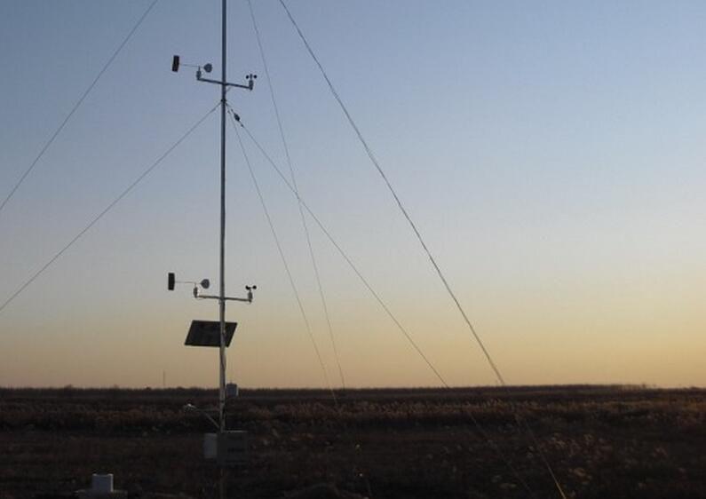 我公司供应九江气象蒸发监测设备安装完毕