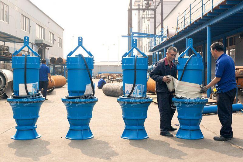 中蓝泵业潜水轴流泵库存展示