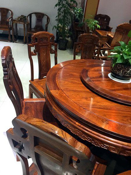 名琢世家专业定制2.8米酒店红木大餐桌 一站式服务