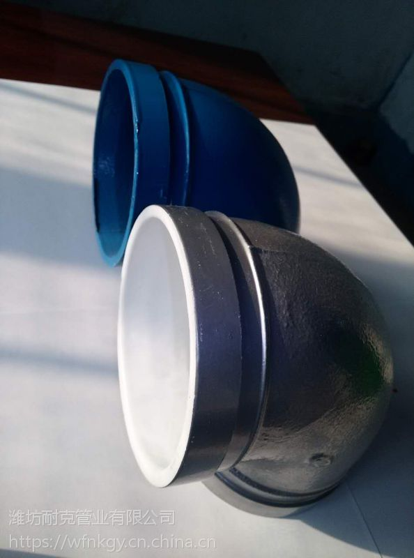 潍坊耐锐克DN100银色给水球墨铸铁90度弯头