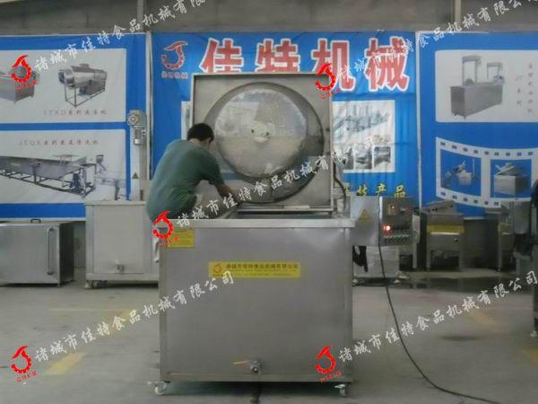 电加热大型刮渣式油炸机