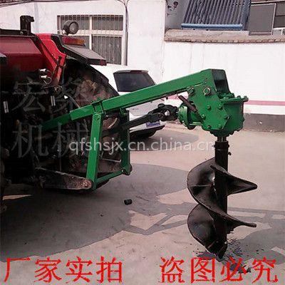 大功率车载挖坑机 东方红小四轮挖坑机 地面打洞机