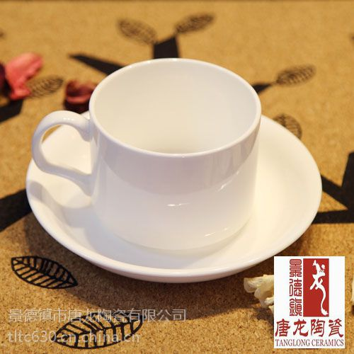 供应白色陶瓷杯子,纯白色陶瓷咖啡杯图片,唐龙定制
