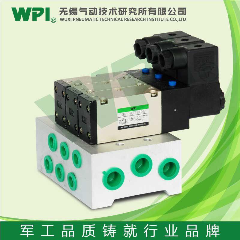 【wpi m3kb3 先导式5通汇流板型电磁阀气控阀 气动电磁阀 可加工定制图片