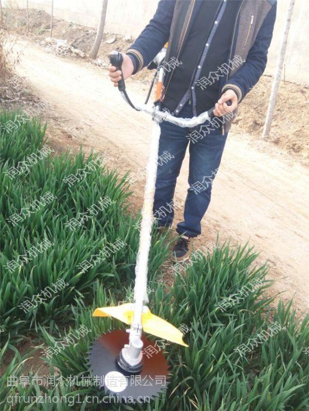 简单便携式割草机 手推大面积草坪修剪机 润众厂家直销