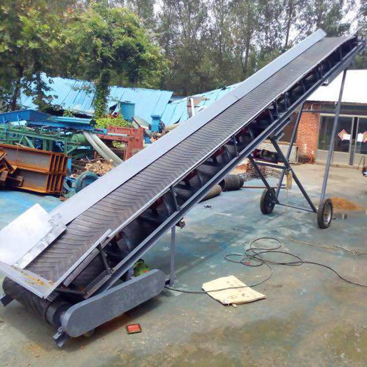 多功能爬坡输送机 不锈钢物流装卸输送机