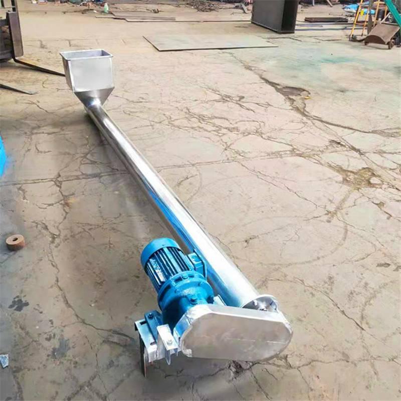 不锈钢螺旋送料螺杆价格 兴运五谷杂粮159管径5米长螺旋提升机