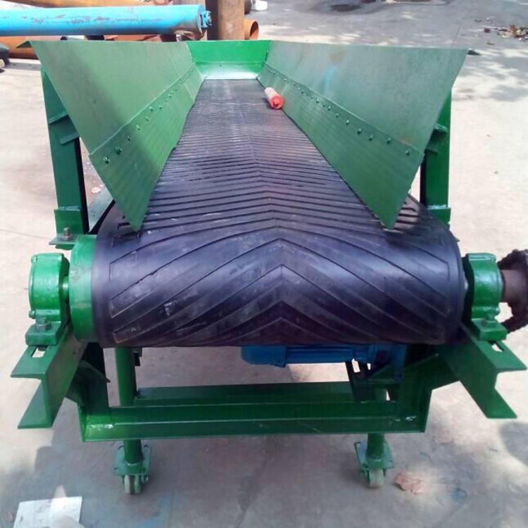 40公斤成袋化肥装卸输送机 移动皮带机