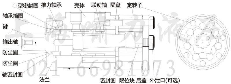 供应bm2-125油马达 上海啸力bm2-125液压马达图片