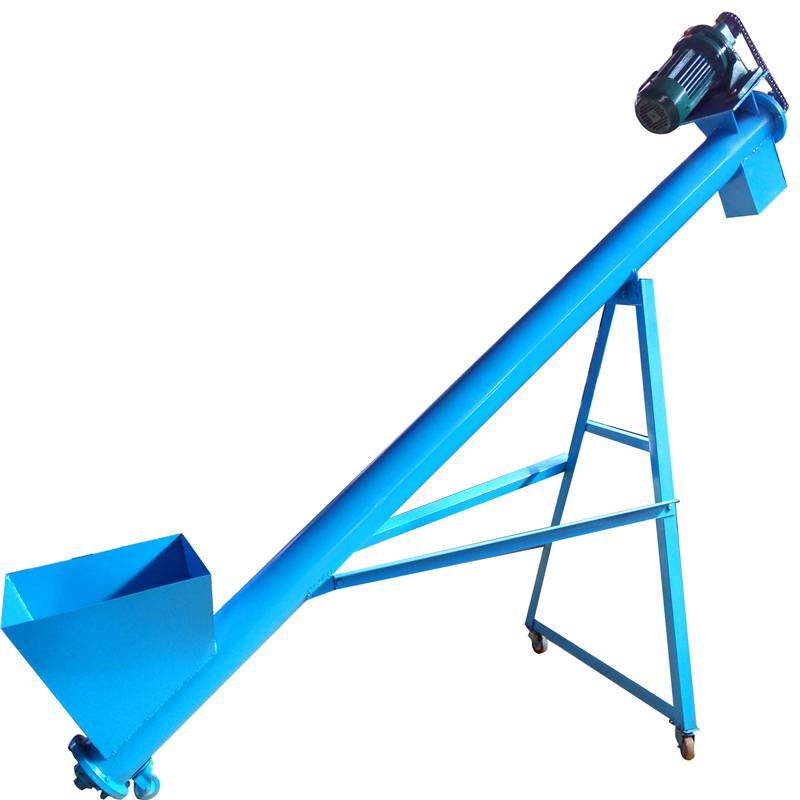 玉米淀粉不同长度倾斜式325管径5米长无缝管螺旋输送机