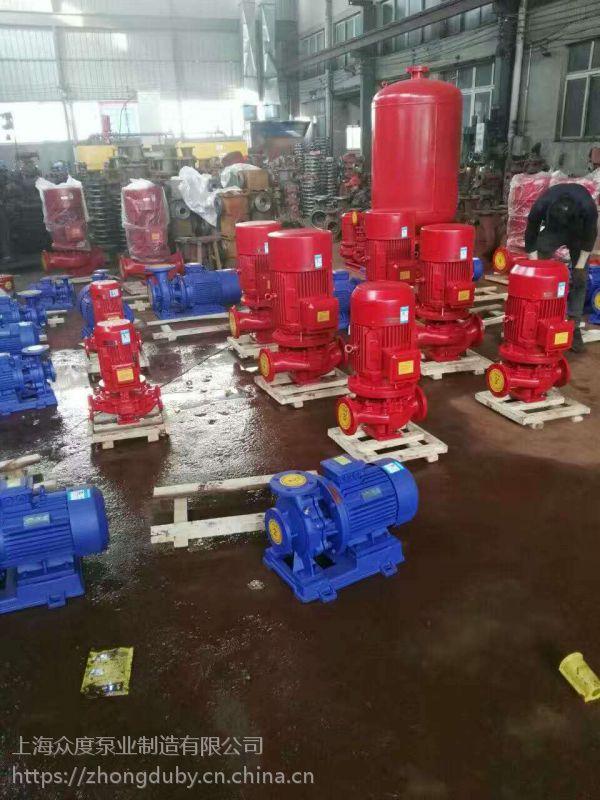 isg管道泵,IHG管道泵 IHG65-125I 5.5KW 江苏常州众度泵业