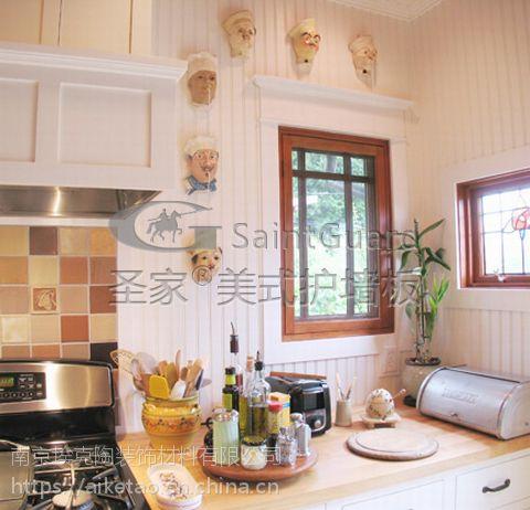 供应美式护墙板_南京圣家背景墙_进口室内外装饰生态木产品图片