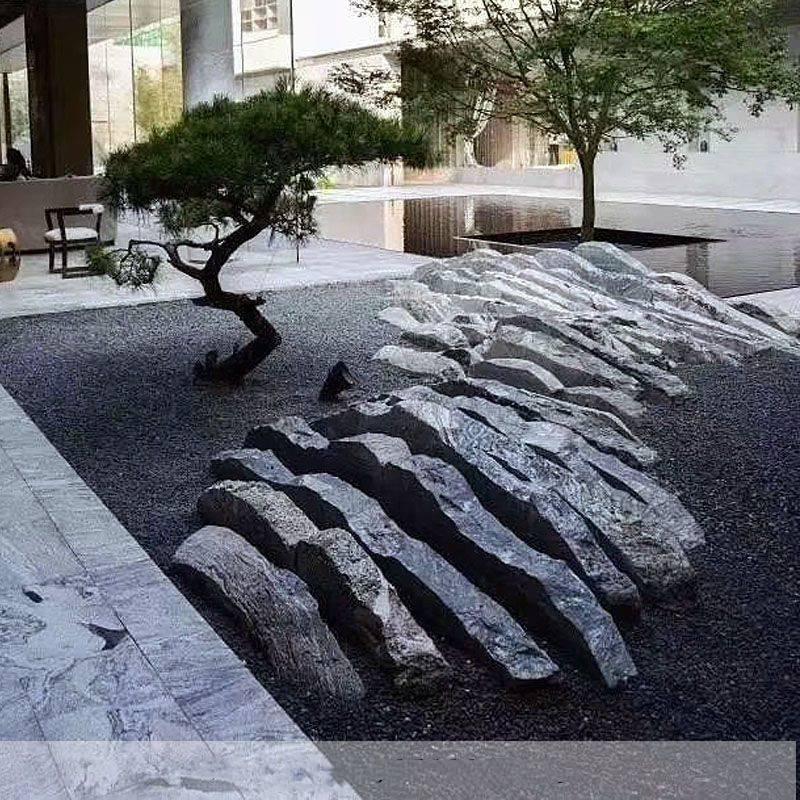 石雕雪浪石室内组合切片假山石大型园林景观自然石风景石刻字泰山石摆件曲阳万洋雕刻厂家定做