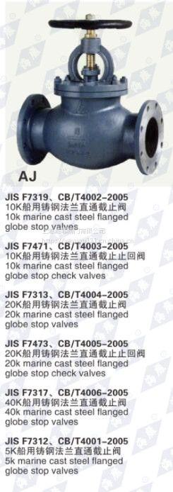 上海海靡船用 法兰青铜截止阀CB/T4012-2005 DN40-800