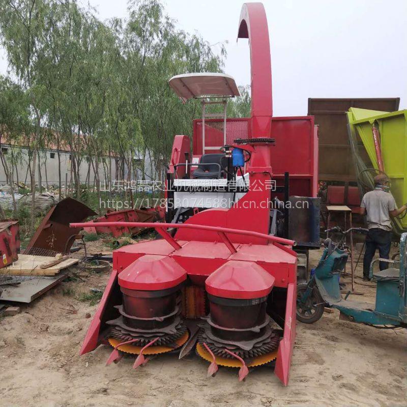 厂家直销 小型履带式青储机 牧草巨菌草收割粉碎机