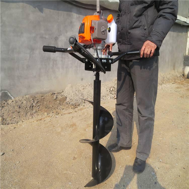 大型螺旋挖坑机 6.5马力直径钻眼机 栽树用打洞机