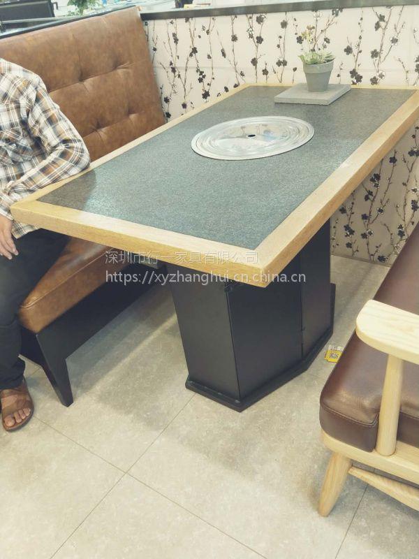 定制蒸汽海鲜餐厅桌椅深圳餐饮家具公司·行一家具火锅店桌子报价