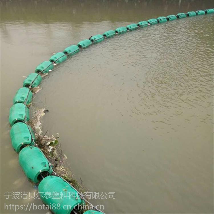 定制水上拦污装置河道拦渣浮筒厂家