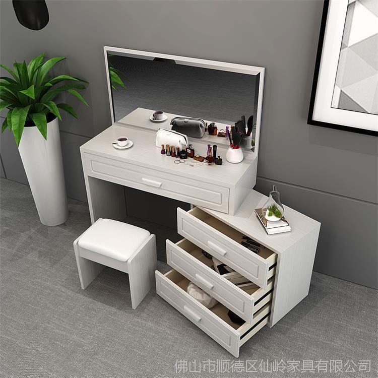 工厂直销现代简约可伸缩型梳妆台欧美时尚板式卧室化妆桌特价