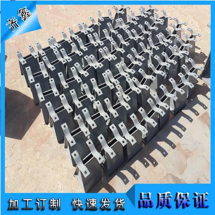 J6 H型管托(带管夹) 管夹型滑动支座 齐鑫大量现货供应