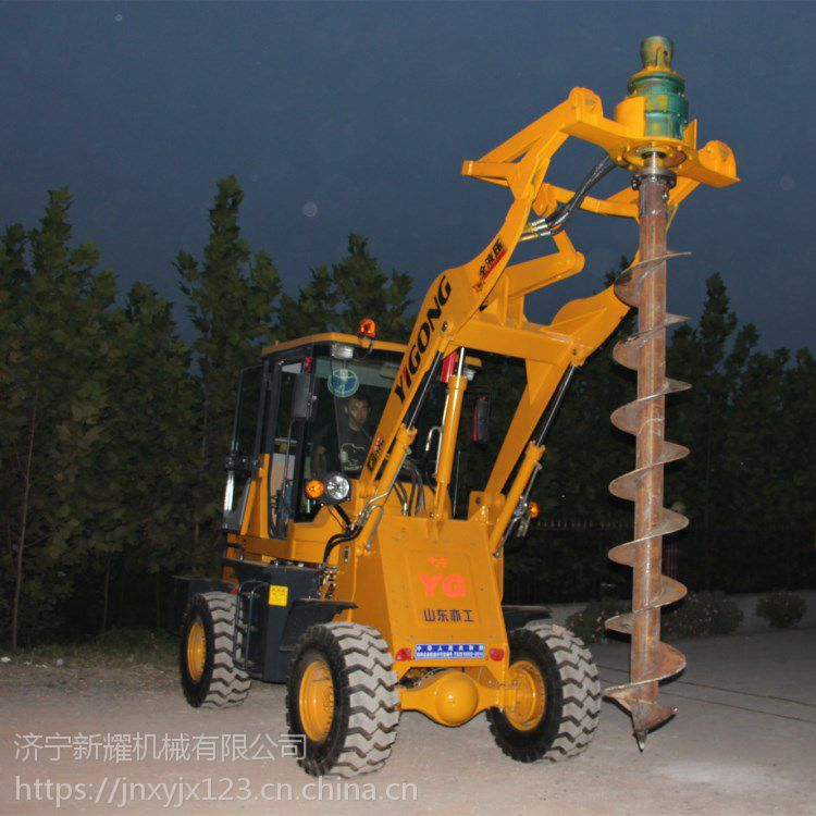 铲车护栏打桩机立柱钢管高速公路波形打桩机
