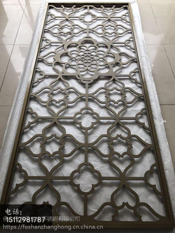 青古铜不锈钢花格屏风隔断厂家直销、酒店专用金属花格巧妙装饰攻略