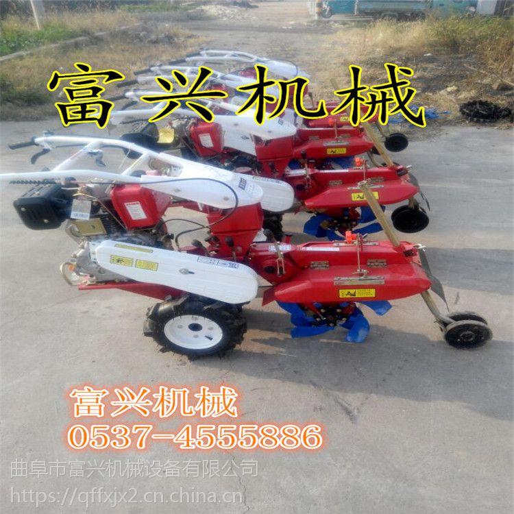 济南山药大姜开沟培土机 富兴柴油186型大马力电启动田园管理机