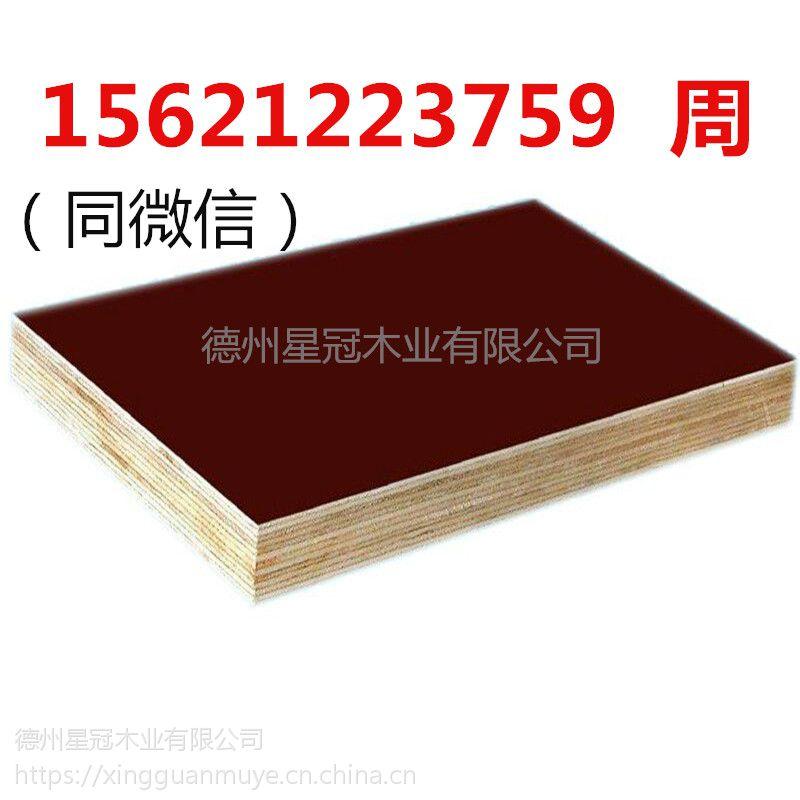 建筑模板建筑木模板建筑覆膜模板不劈裂不开胶星冠木业