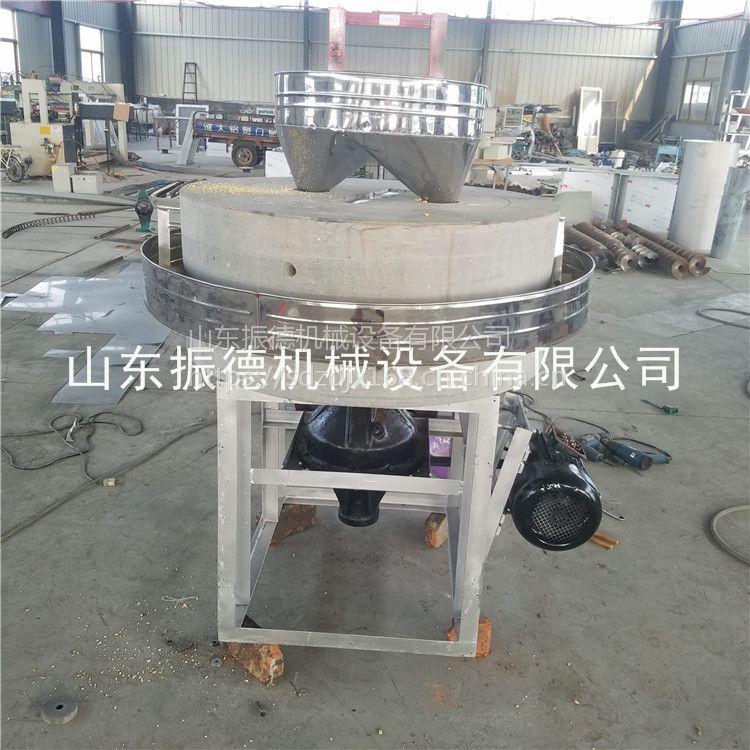 农村投资小生意项目小麦面粉专用石磨机 大型石磨面粉机 振德热销