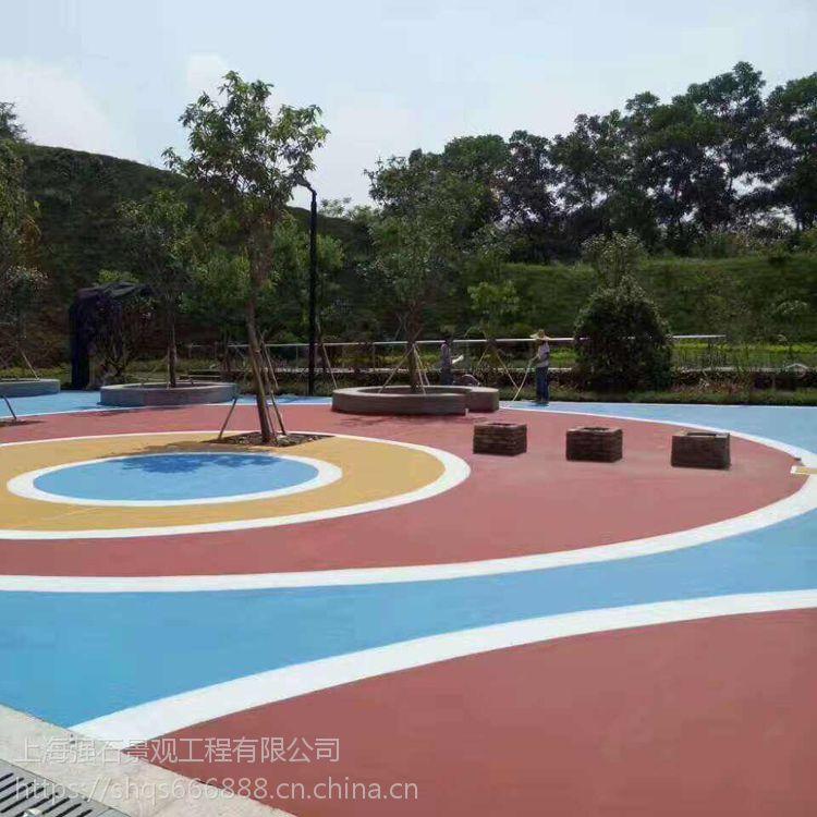琼海透水混凝土公司彩色透水混凝土包工包料强石新材料