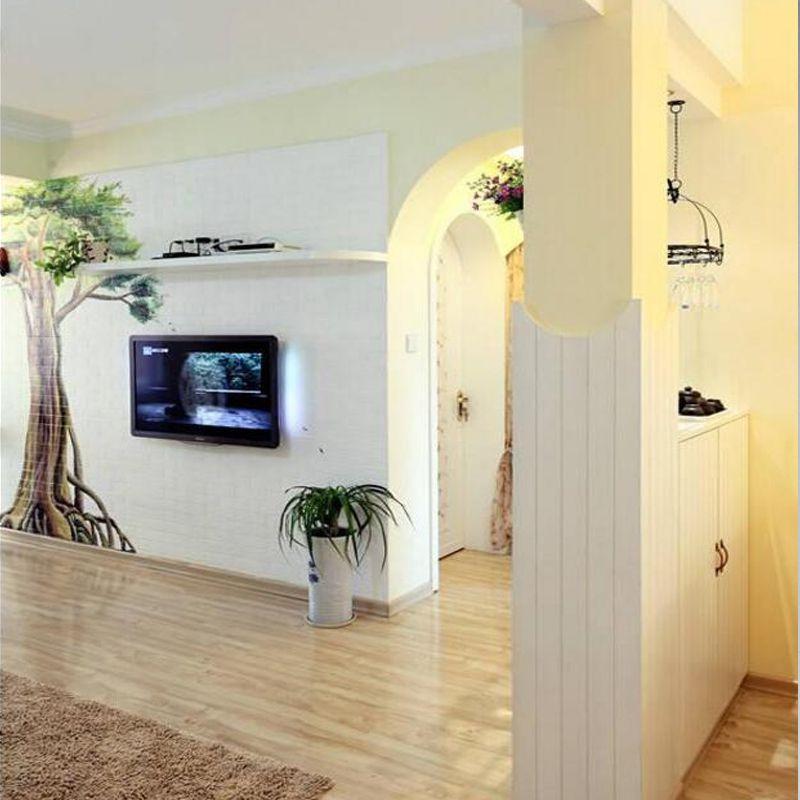 白色护墙板墙裙板桑拿板吊顶实木免漆扣板室内欧式背景墙板装饰板
