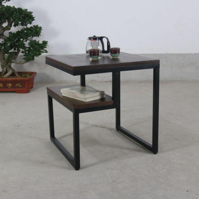 御景庄园 创意铁艺沙发边几 欧式实木茶几客厅茶桌实木茶台咖啡桌图片