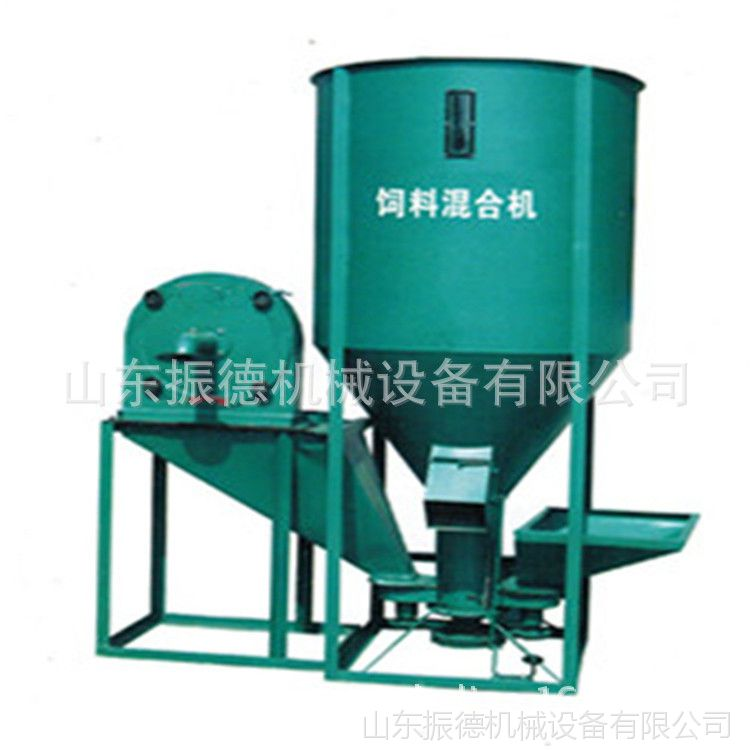 玉米饲料粉碎搅拌机 振德 自吸式搅拌机 新型立式饲料搅拌机