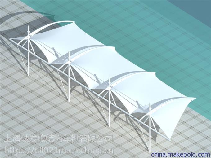 厂家供应膜结构停车棚遮阳棚车棚汽车车棚钢结构膜结构张拉加工