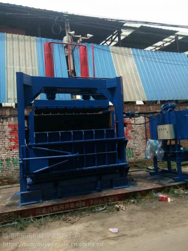 大型200吨自动出包铁片液压打包机立式废油桶拓佑直销