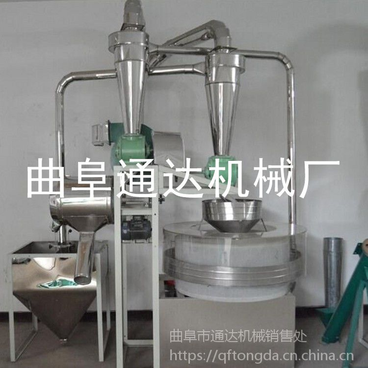 通达厂家 生产多功能小麦面粉机 河北 荞麦加工机器 电动石磨销量领先