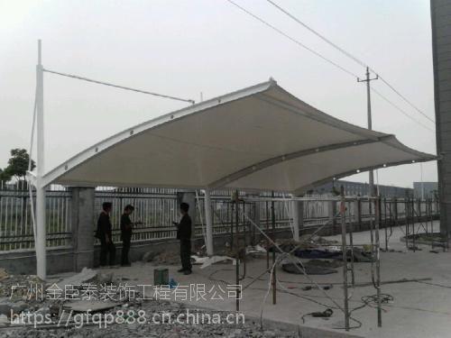厂家定做安装厂房仓库推拉雨篷 户外遮阳雨蓬 钢结构雨棚